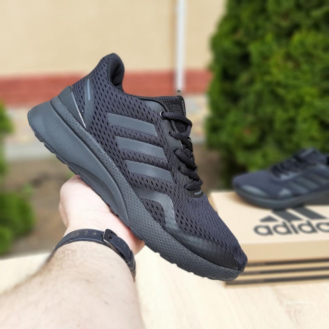 Мужские кроссовки Adidas Nova Run X (черные) 10109