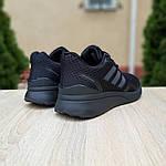 Мужские кроссовки Adidas Nova Run X (черные) 10109, фото 3