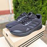 Мужские кроссовки Adidas Nova Run X (черные) 10109, фото 5