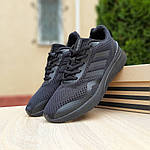 Мужские кроссовки Adidas Nova Run X (черные) 10109, фото 7