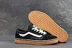 Мужские кроссовки Vans (черно-коричневые) 9266, фото 4