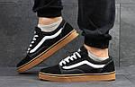 Мужские кроссовки Vans (черно-коричневые) 9266, фото 5