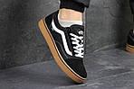 Мужские кроссовки Vans (черно-коричневые) 9266, фото 6