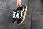 Мужские кроссовки Vans (черно-коричневые) 9266, фото 7