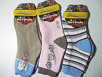 Детские носки, махровые для девочек Modenweek, размеры 27-32(8), 33-38(4) . Арт. МС  6005