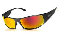 Спортивні дзеркальні червоні окуляри Global Vision BAD ASS 1 в металевій оправі