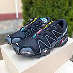 Мужские кроссовки Salomon Speedcross 3 (черные) 10099, фото 8