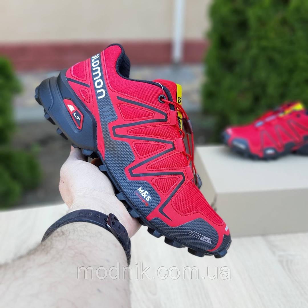 Мужские кроссовки Salomon Speedcross 3 (красные) 10100