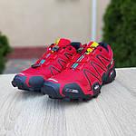 Мужские кроссовки Salomon Speedcross 3 (красные) 10100, фото 7