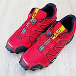 Мужские кроссовки Salomon Speedcross 3 (красные) 10100, фото 8