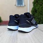 Мужские кроссовки Adidas Nova Run X (черно-белые) Рефлективные 10101, фото 3