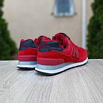 Замшевые мужские кроссовки New Balance 574 (красные) 10107, фото 2