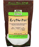 Now Foods, Real Food, органический эритритол, 545 г