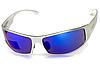 Спортивные зеркальные синие очки Global Vision BAD-ASS 1 в серой металлической оправе