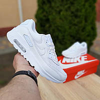 Кроссовки Nike Air Max 90 белые сетка/кожа