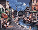Картина по номерам «Ночная Венеция» 350-CG  Белоснежка  40x50, фото 2