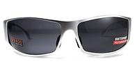 Спортивні чорні окуляри Global Vision BAD ASS 1 в сірій металевій оправі