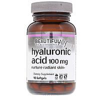 Гиалуроновая Кислота 100 мг, Beautiful Ally, Bluebonnet Nutrition, 90 желатиновых капсул