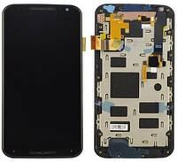 Дисплей Motorola XT1092 XT1093 XT1094 XT1095 XT1096 XT1097 Moto X (2nd Gen) с рамкой черного цвета