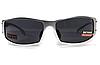 Спортивные черные очки Global Vision BAD-ASS 2 в серой металлической оправе