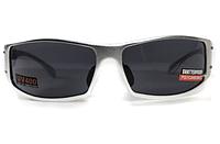 Спортивні чорні окуляри Global Vision BAD ASS 2 в сірій металевій оправі