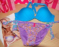 Купальник Victoria's Secret push-up 36B незабудковый цвет (36B+S или М)