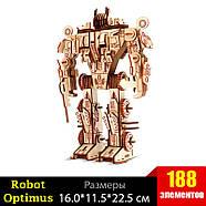Деревянный 3D конструктор трансформер Оптимус Прайм, фото 2