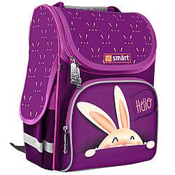 Рюкзак школьный каркасный для девочки SMART 558058 PG-11 Hello