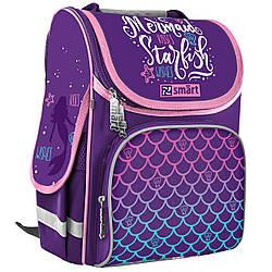 Рюкзак школьный каркасный для девочки SMART 558066 PG-11 Mermaid