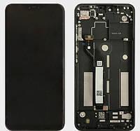 Дисплей модуль Xiaomi Mi 8 Lite 6.26 в зборі з тачскріном, чорний, з рамкою, Original