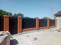 Забор штакетный металлический  МU-1100х2000/28 Паркан металевий оцинкований Євроштахет ЕСОВОХ© /