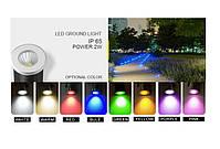 Світильник ґрунтовий K-2801 COB LED 2W 3000К 220V IP65 розмір 42мм * 75мм, фото 3