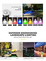 Світильник ґрунтовий K-2801 COB LED 2W 3000К 220V IP65 розмір 42мм * 75мм, фото 4