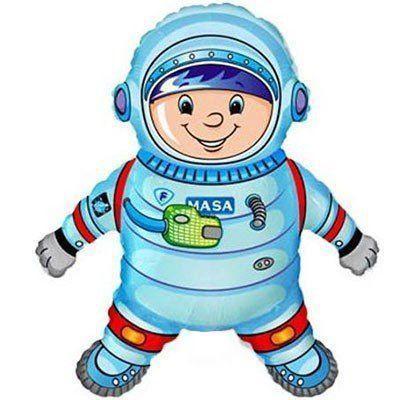 Фольгированный шар большая фигура Космонавт 100х80см Flexmetal