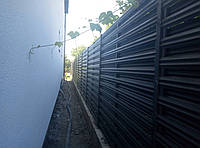 Забор штакетный металлический  МU-900х2000/28 Паркан металевий оцинкований Євроштахет ЕСОВОХ©