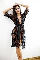 Эротический женский халат S чёрный ( 900 005 )