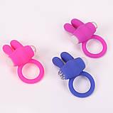 Мужское Эрекционное кольцо на пенис с ушками для клитора, фото 5
