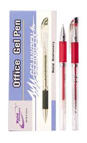 Ручка гелева 601B 0,5 mm червона