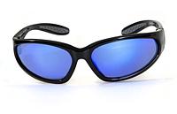 Защитные зеркальные спортивные очки Global Vision Hercules-1 синие, фото 1