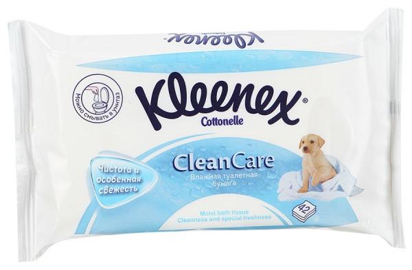 Kleenex влажная туалетная бумага 42 шт (сменный блок)