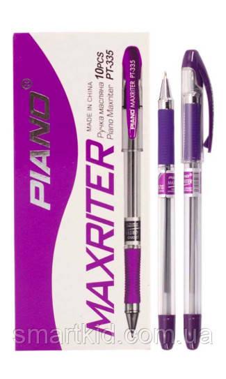 Ручка масляна PIANO Maxriter PT-335 10шт, фіолетова