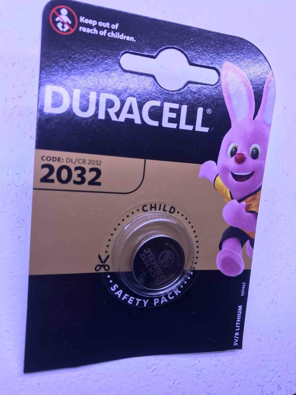 Дисковая батарейка DURACELL Lithium Cell 3V  DL2032 (C1)