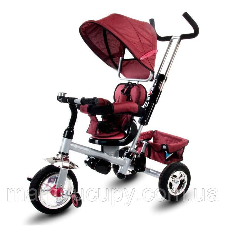 Детский трехколесный велосипед Sun Baby Super Trike (J01.002.14) бордовый