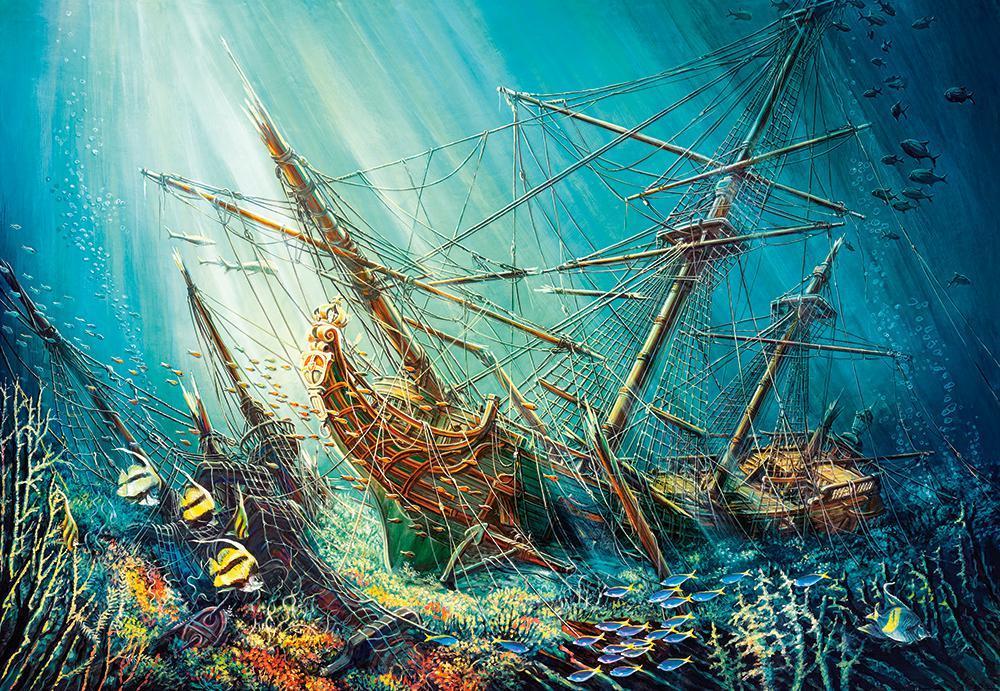 Пазлы Castorland 1000 эл. арт. С-103805 Морское сокровище (68х47см) 25-35-5см
