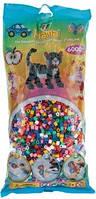Термомозаика HAMA набор цветных бусин , 10 цветов 6000 шт 205-00