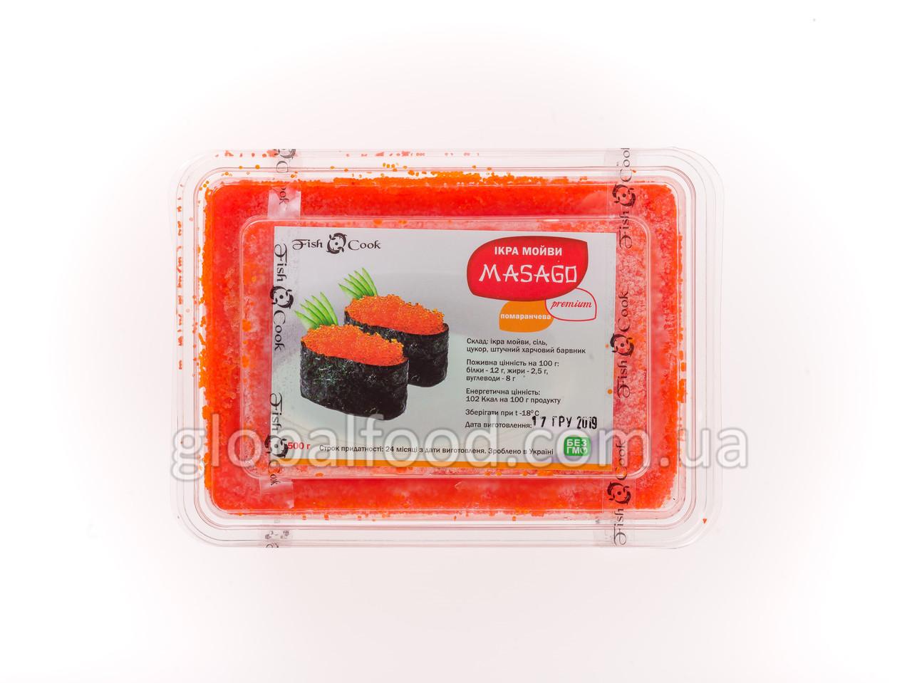 Масаго Икра Капеллана  Ренка  Замороженная Оранжевая (0,5 кг.)