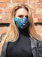 Принтованная многоразовая маска RicaMare с репродукцией картины Ирисы Винсент Ван Гог (RM0112)