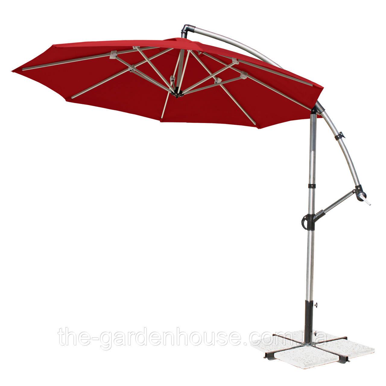 Зонт консольний круглий Capri Ø 3 м (червоний)