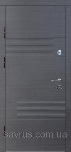 Двері Стандарт  87 мал. 123 А  венге  сірий гориз  L