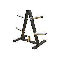 Подставка (стойка) для олимпийских и классических блинов (дисков) Zelart  (металл, р-р 39х75х104см)